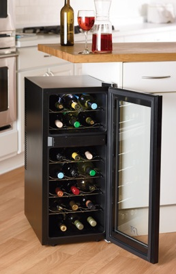 SPT Dual Zone Thermoelectric Wine Cooler in Kitchen